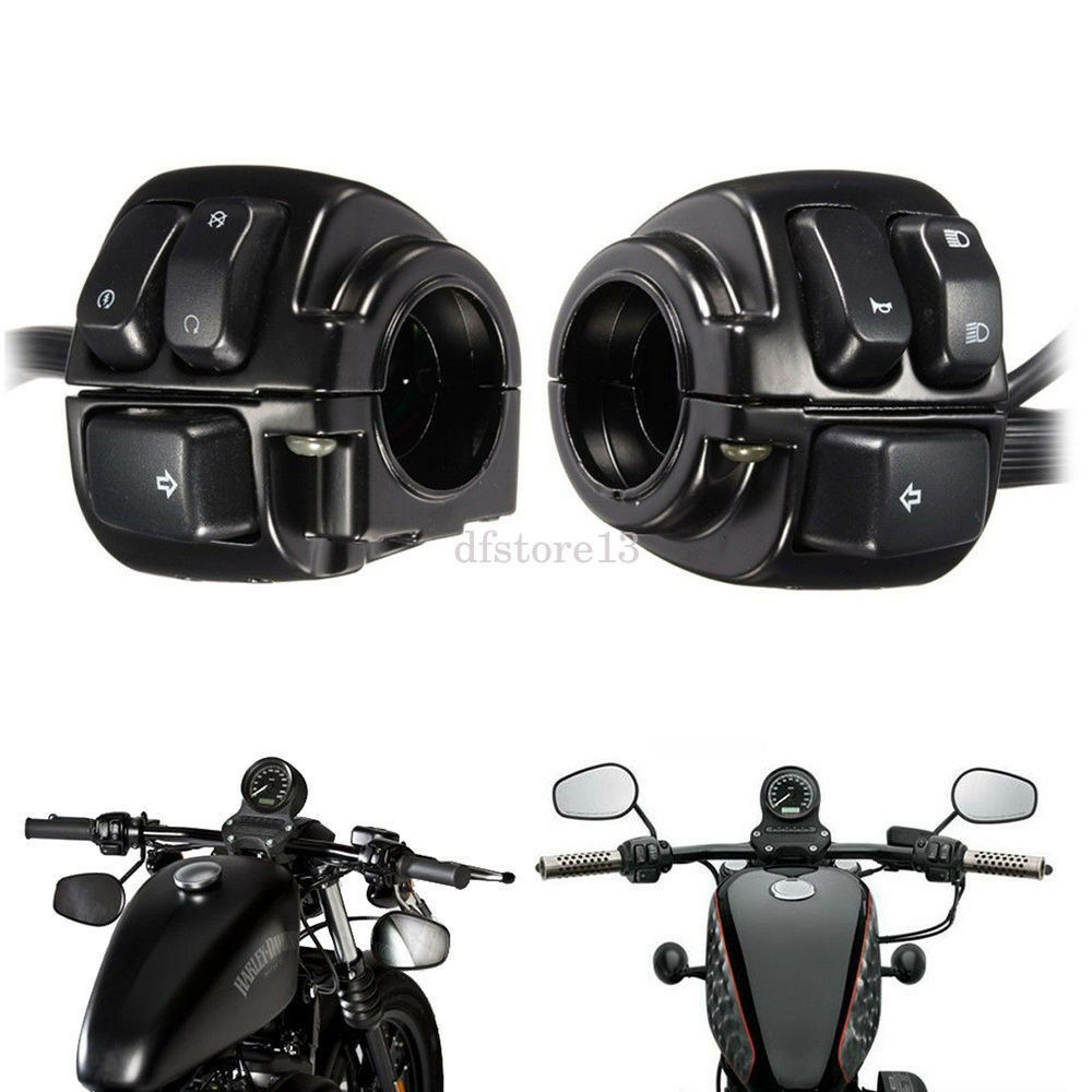 Black Motorcycle 1 Handlebar Control Switch Housing Wiring Harness A Jumbo Of 10only Available