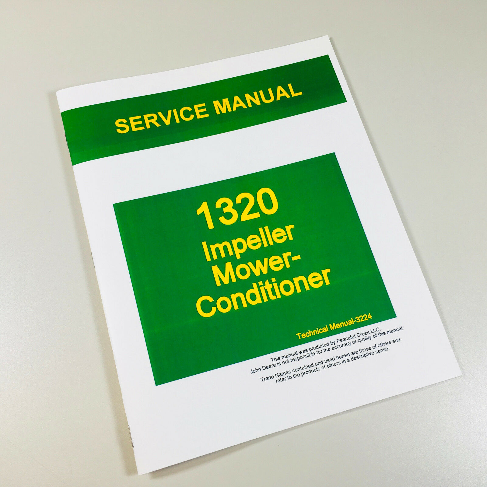 Service Manual For John Deere 1320 Impeller Mower Conditioner Repair Shop  Book 1 of 1Only 4 available ...
