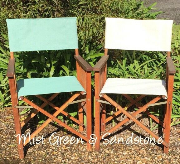 OUTDOOR DIRECTOR CHAIR REPLACEMENT COVERS New Various Colours AUSTRALIAN  MADE 1 Of 4 See More