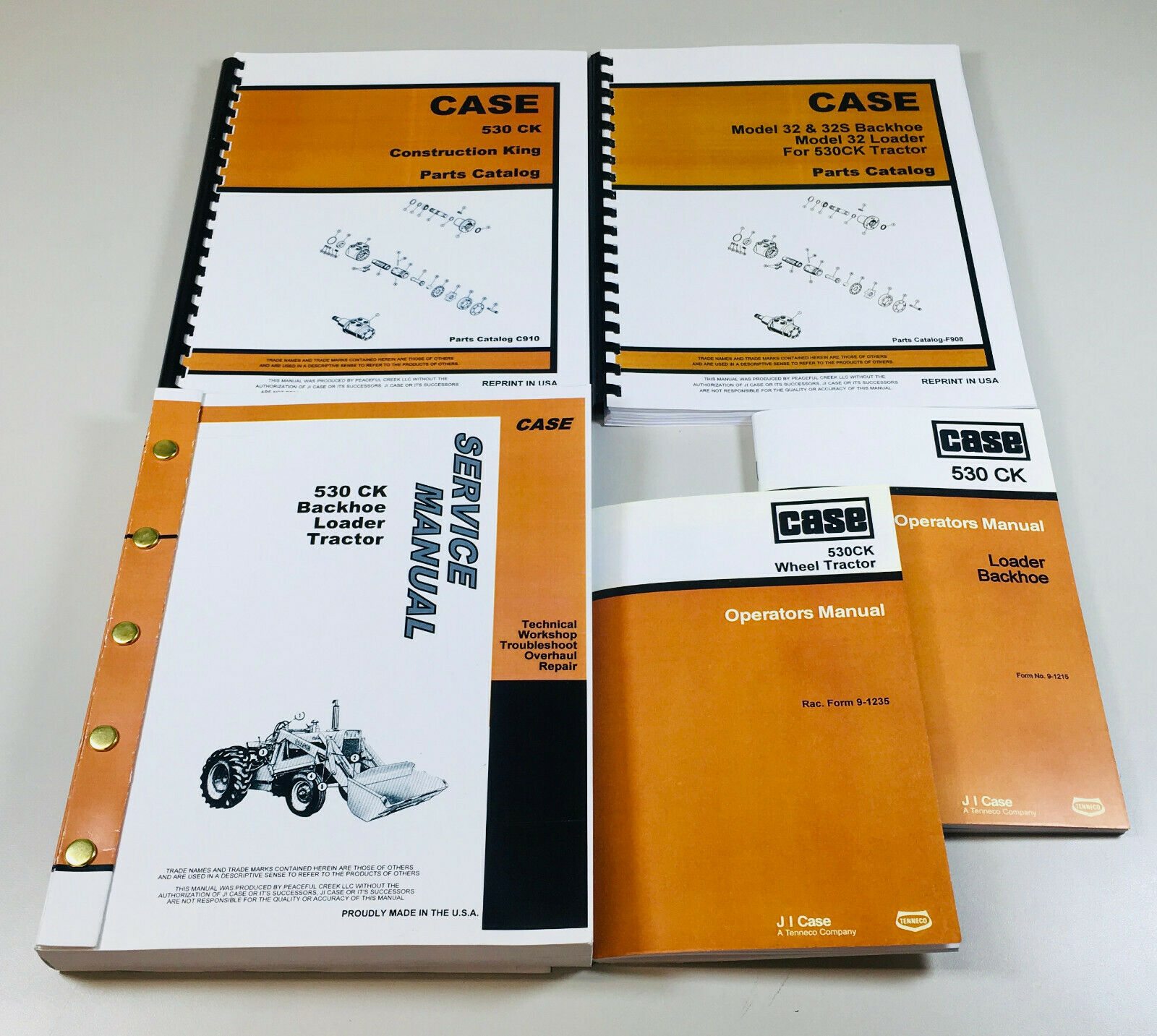 Case 530Ck Tractor Loader Backhoe Service Parts Operators Manual Catalog Oh  Set 1 of 12FREE Shipping ...