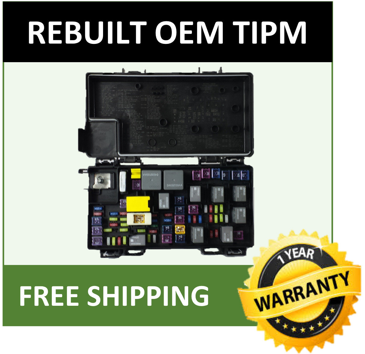 2012 Dodge Ram 1500 Tipm Fuse Box Integrated Power Module Oem 68089323af 1 Of 2free Shipping