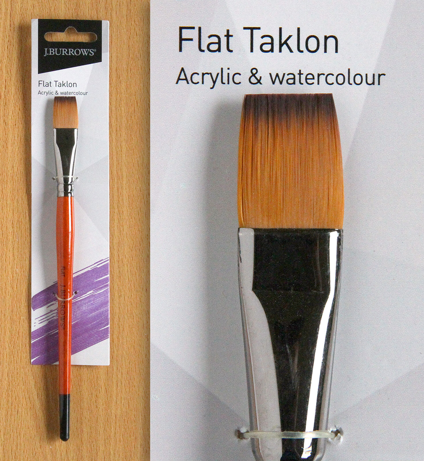 flat taklon paint brush size 14 j burrows free postage 9 95