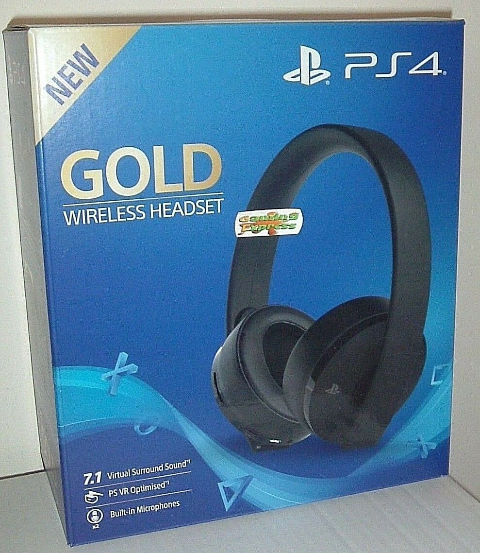 OFFICIAL SONY GOLD Wireless 7.1 Headset Playstation 4 PS4 PSVR NEW ...