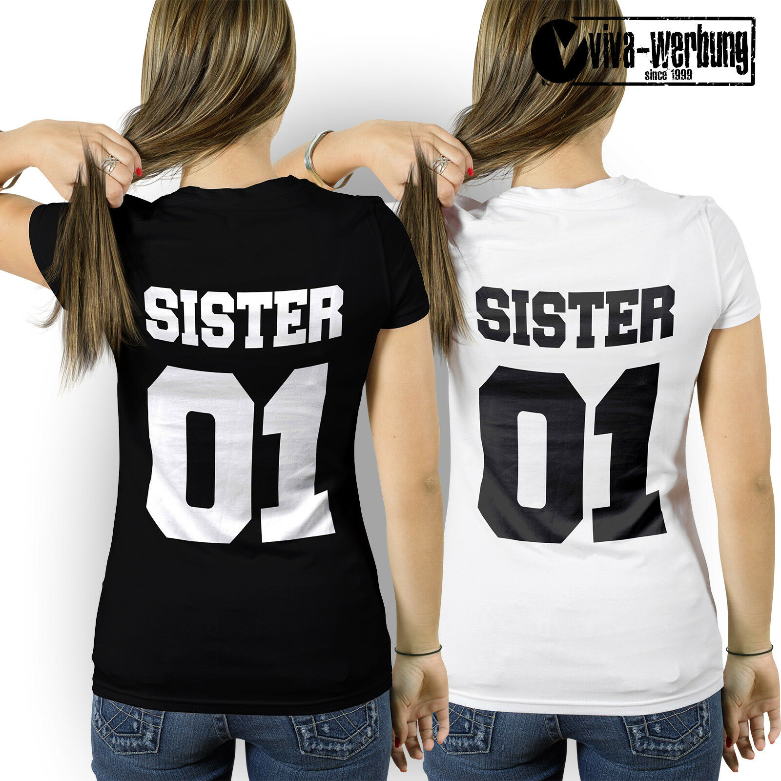 sister 01 t shirt best friends freunde t shirt f r beste. Black Bedroom Furniture Sets. Home Design Ideas
