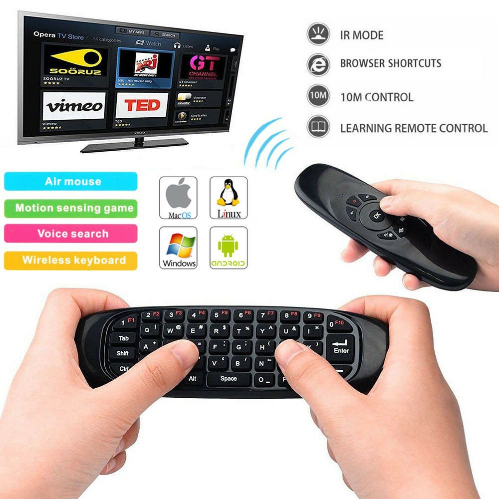 24ghz Wireless Air Mouse Mini Keyboard Remote Control With Mic For Gyroscope Smart Tv Pc