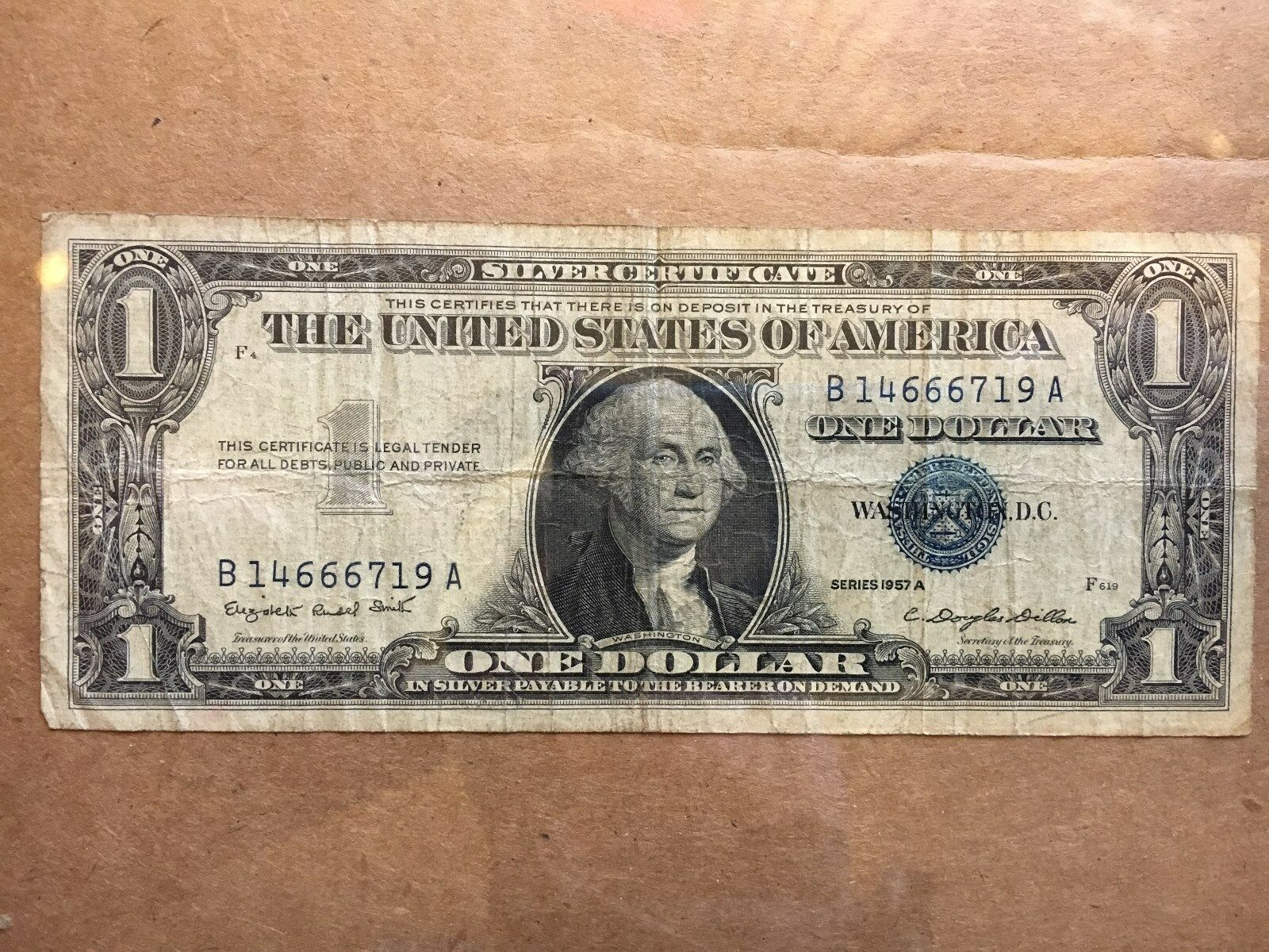 1 Dollar Bill 1957 A Series Usa Silver Certificate Blue Seal