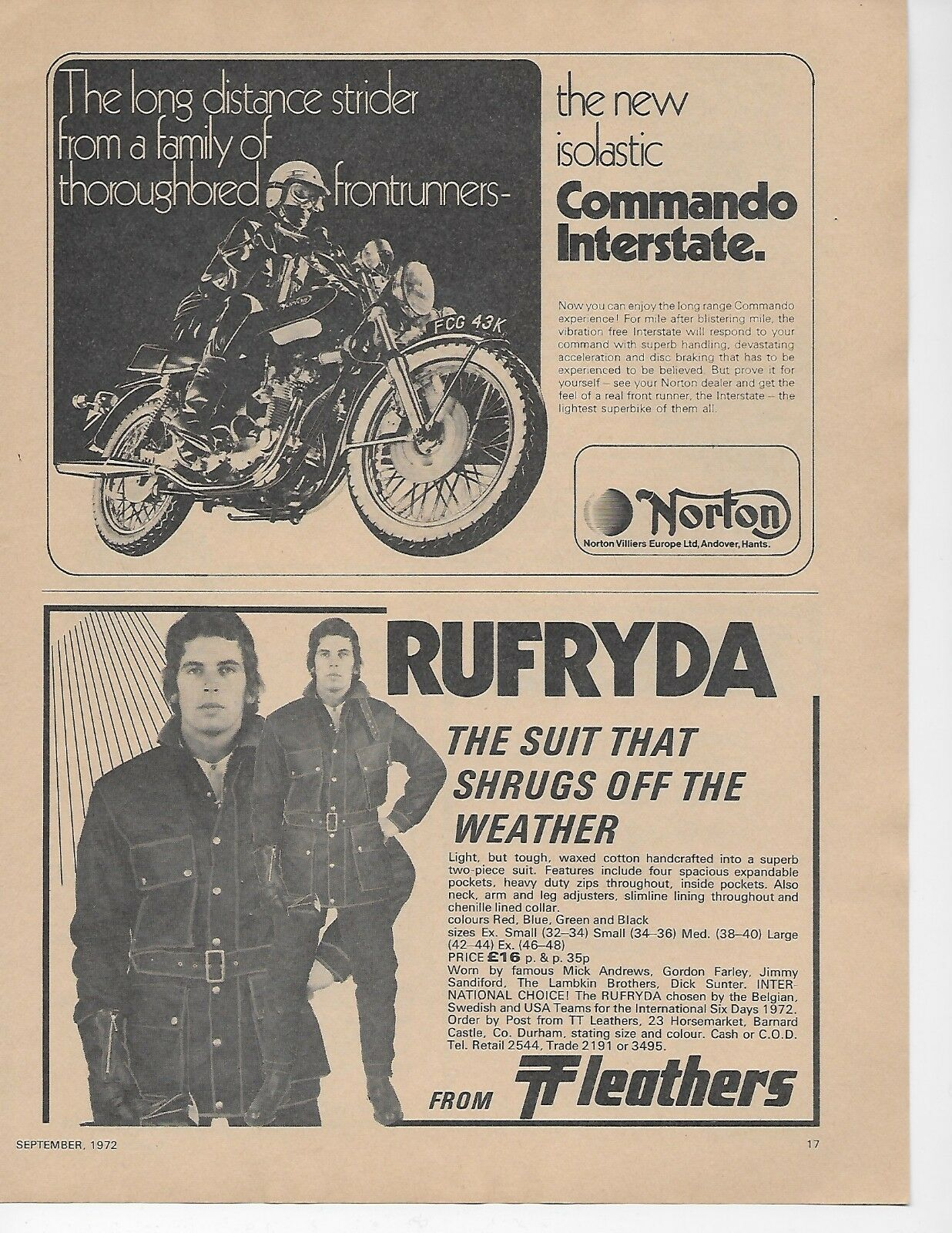 Norton Commando Interstate Classic Motorcycle Period Advert 1972 Wiring For Super Dummies Me Motorcycles 1 Of See More