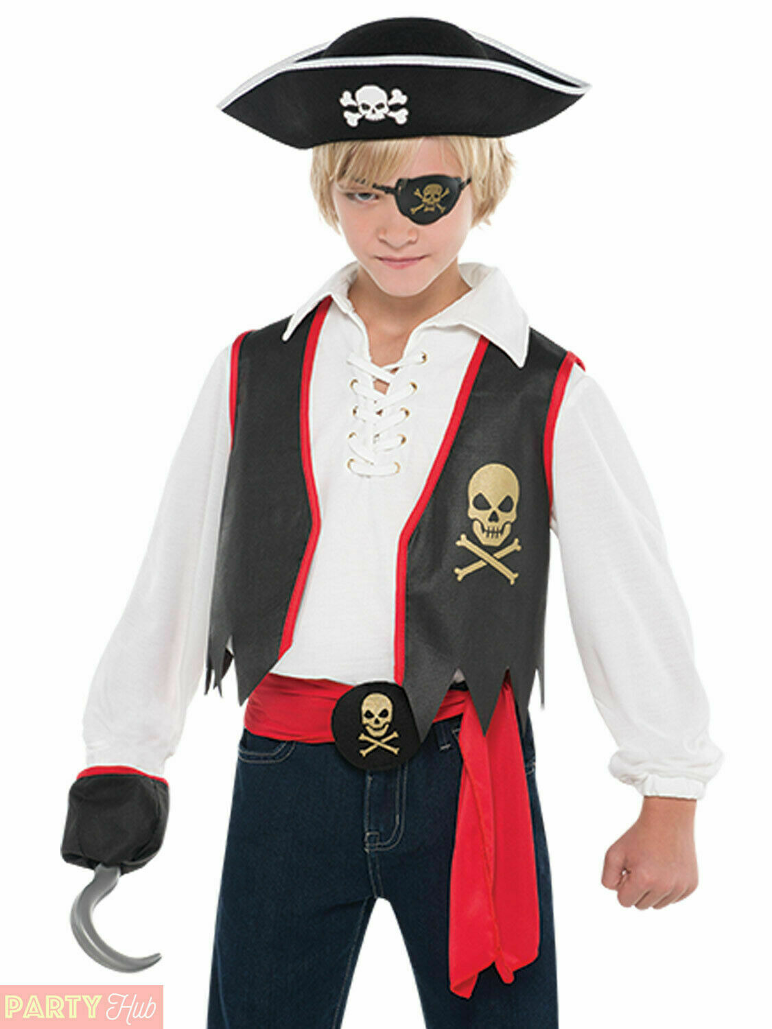 Boys Pirate Costume Child Captain Hook Fancy Dress Book Week Deckhand Outfit 1 of 1FREE Shipping ...  sc 1 st  PicClick UK & BOYS PIRATE COSTUME Child Captain Hook Fancy Dress Book Week ...