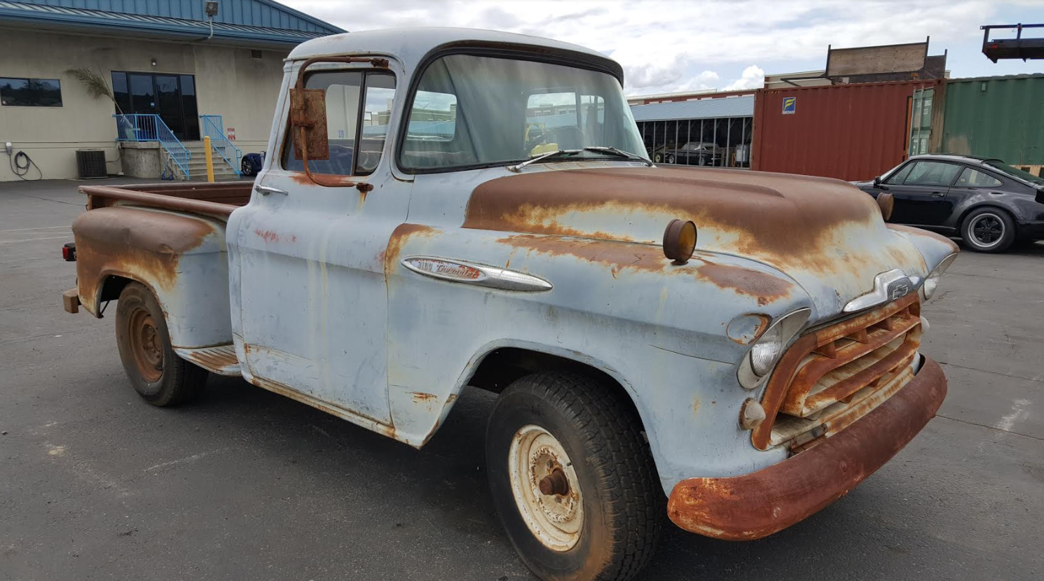 1957 Chevy 3100 Short Bed Half Ton Step Side Truck 1295000 1955 Ford F100 1 Of 9only Available