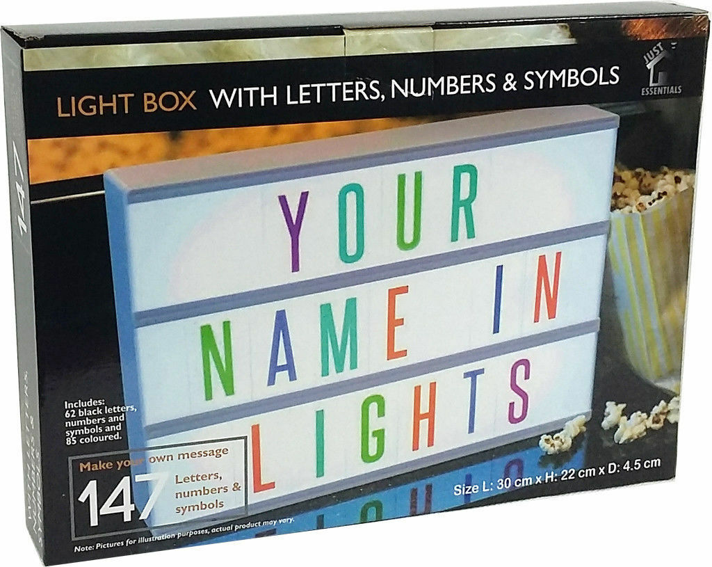 A4 Cinema Light Box Led Message Coloured Letter Number Party Shop Make A Series Letters From The 1 Of 4free Shipping