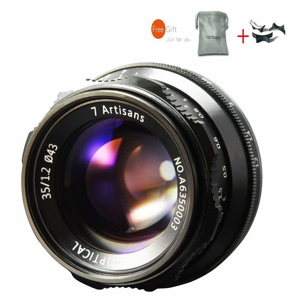 7artisans 35mm F12 Manual Lens For Fuji Fx Mount X A1 At M1 Xm2 12mm F 28 Black 1 Of 12only 5 Available