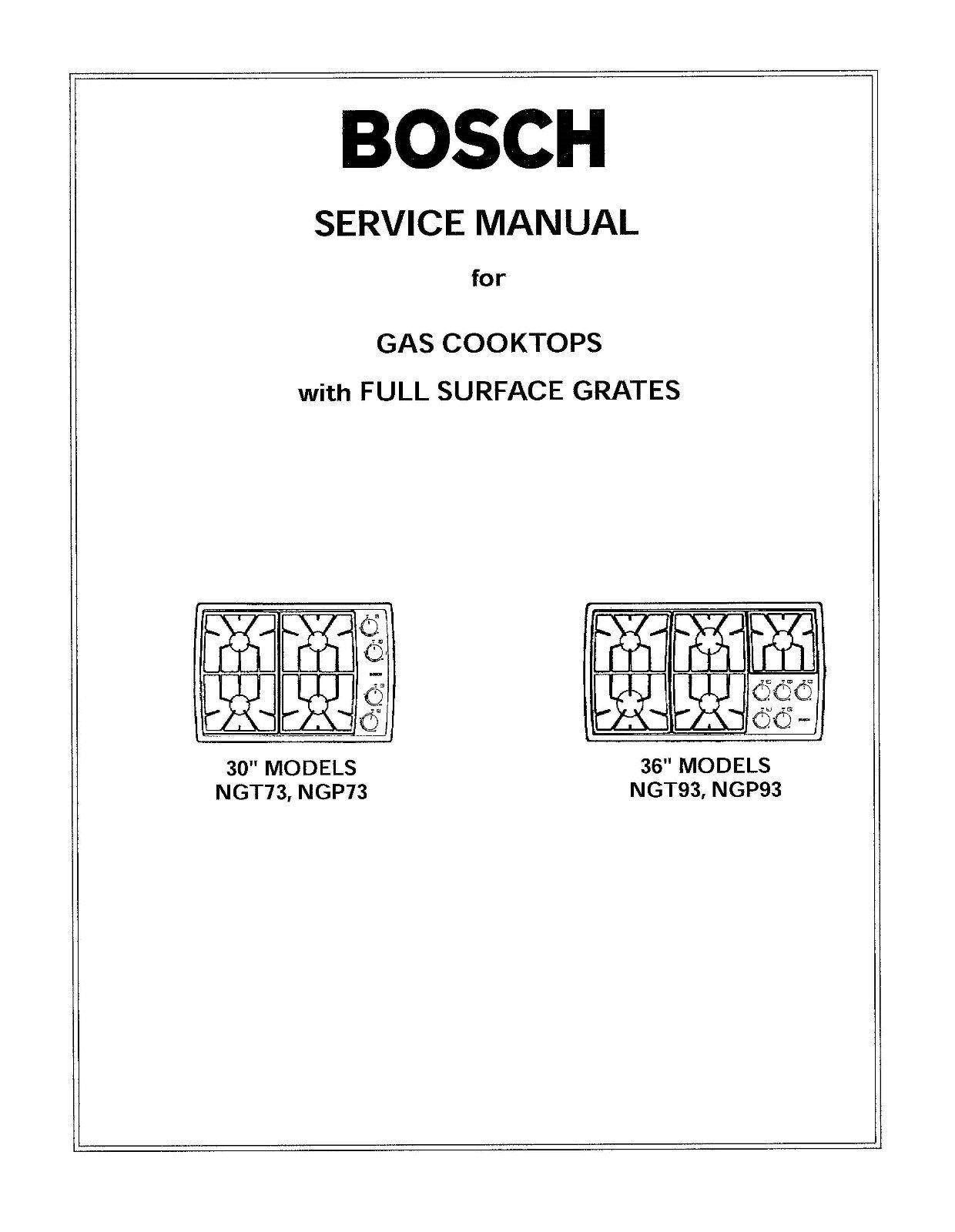 Repair Manual: Bosch Ovens & Cooktops (choice of 1 manual,Models in  Description 1 of 3FREE Shipping Repair Manual: Bosch ...