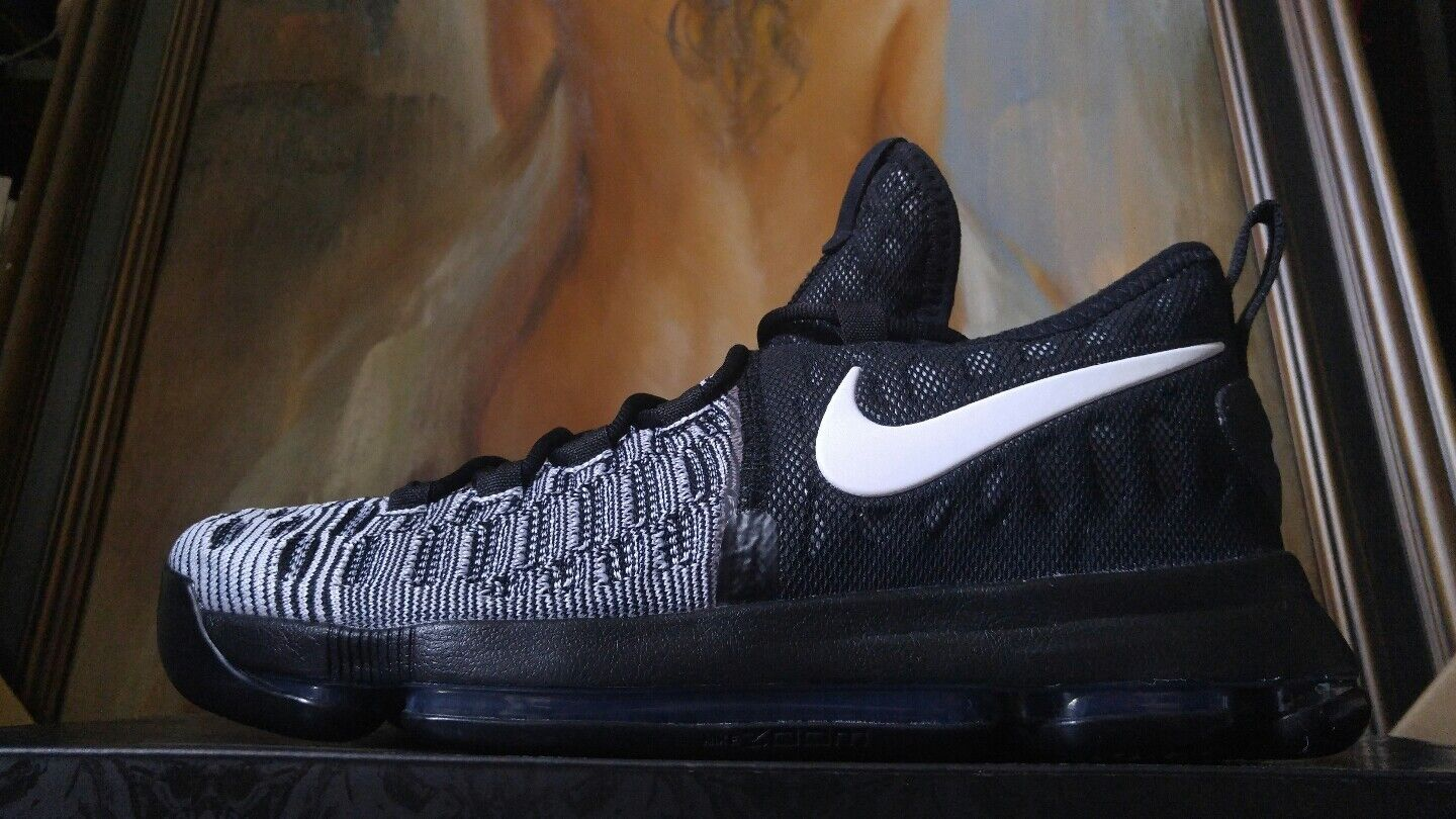 d7a18fde7c2 Nike Zoom KD 9 Black white oreo Mic Drop flyknit size 10 10.5 12 new 843392  010 1 of 9Only 1 available ...