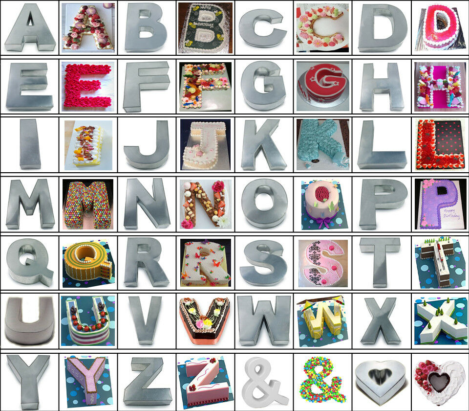 Alphabet Shape Cake Tin - A to Z All Letters Cake Moulds Pan - Two Sizes •  £9 99
