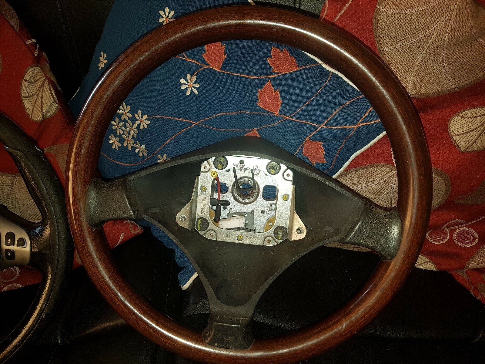 ALFA ROMEO 156 WOODEN steering wheel £45 00