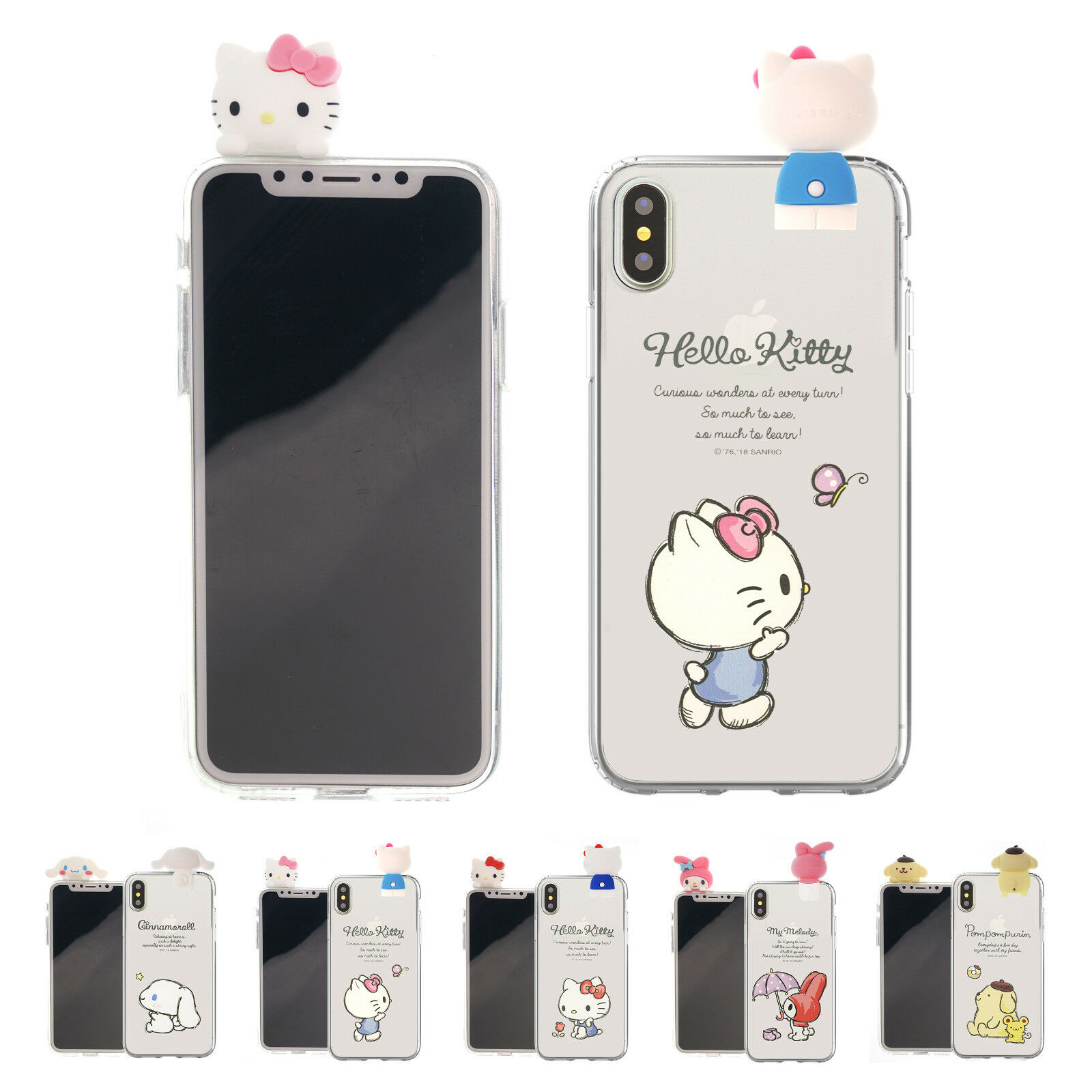 Sanrio Figure Jelly Cover Galaxy S9 Note9 Iphone Xs Max Xr X 8 7 Goospery Samsung New Bumper Case Black 1 Of 1free Shipping