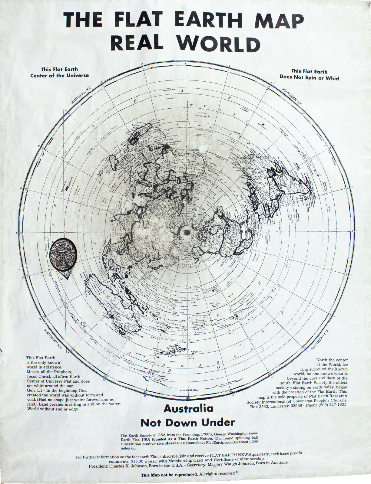 Map Of Australia 1700.The Flat Earth Society Map Real World Australia Not Down Under