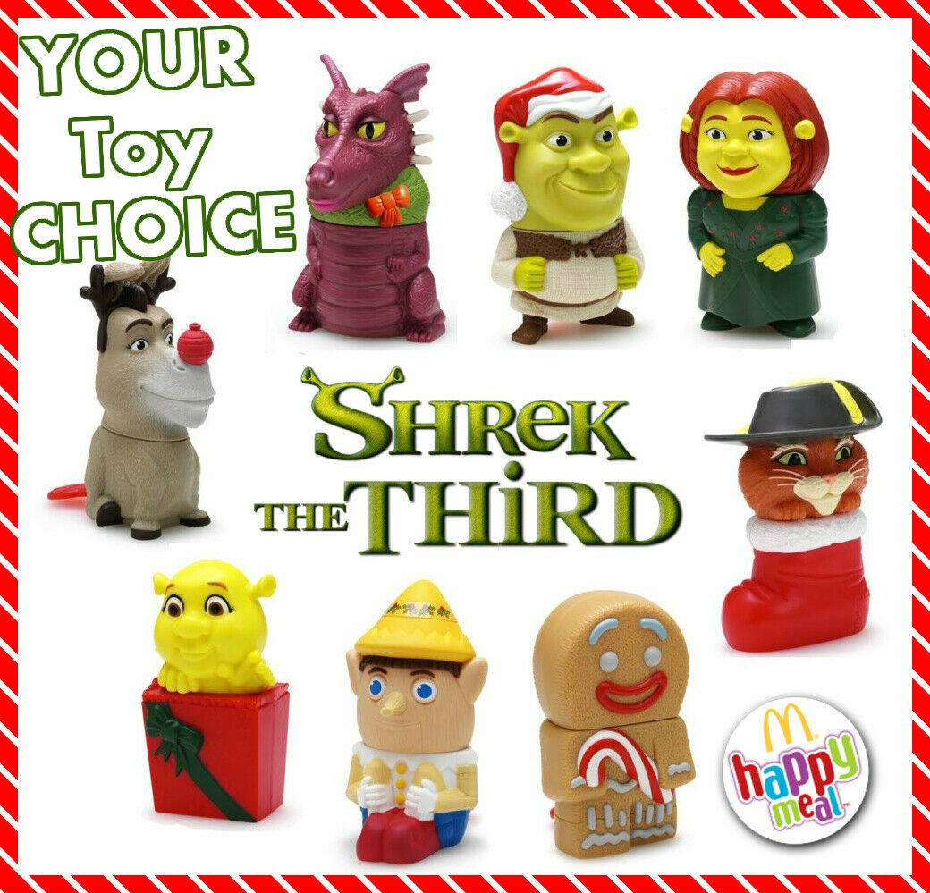 MIP MCDONALD\'S 2007 SHREK the THIRD CHRISTMAS Playing Card Game PICK ...