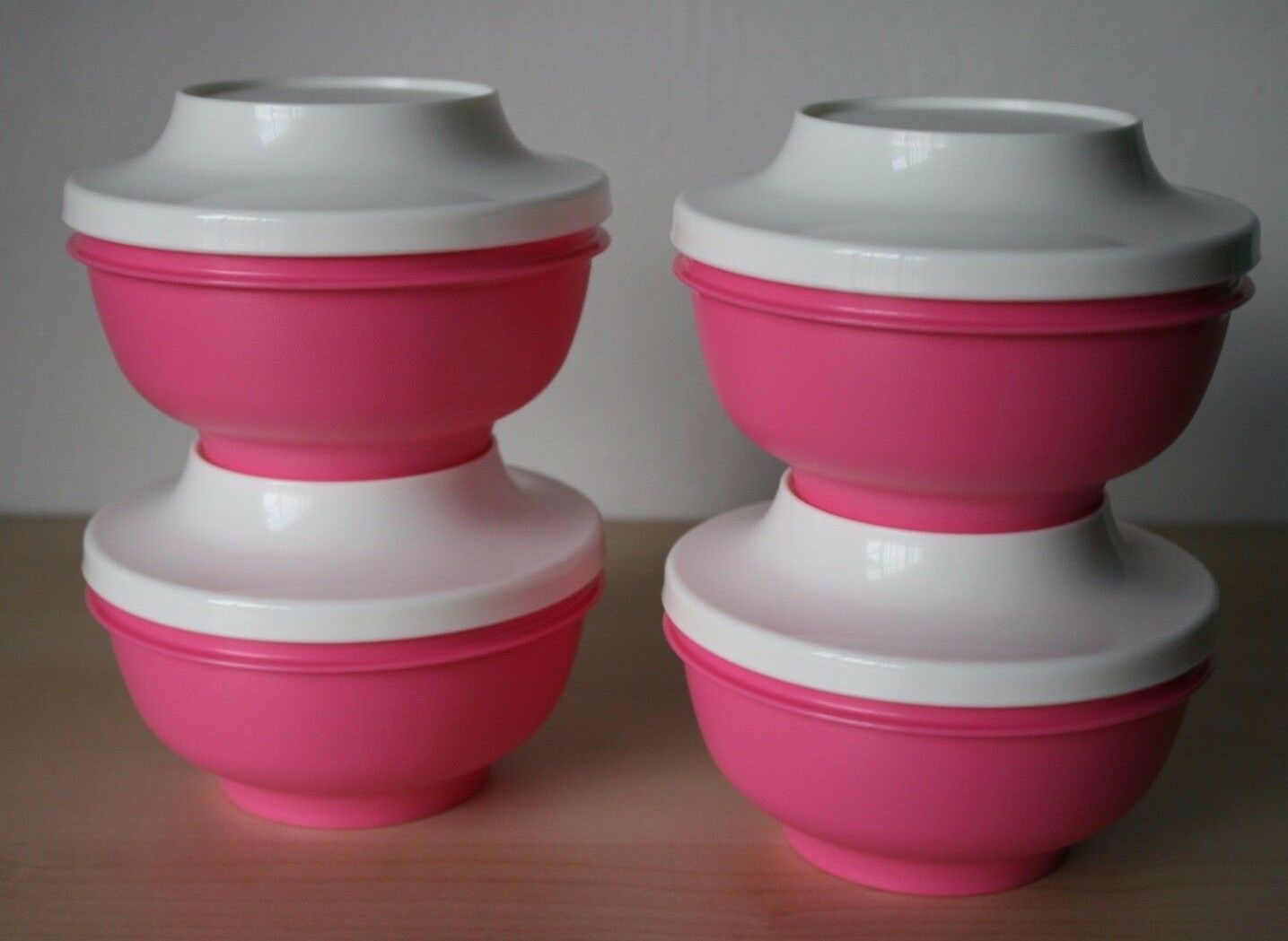 Tupperware Oriental Rice Bowl Pedestal Soup Set 4 Pink New Sweet Blossom 1 Of 3only 3 Available