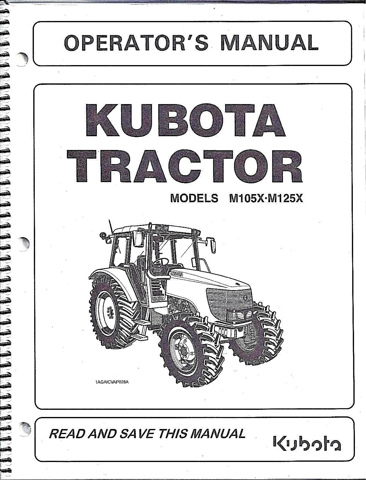Kubota M105X & M125X TRACTOR Operator's Manual 3P305-99713 1 of 1Only 1  available .