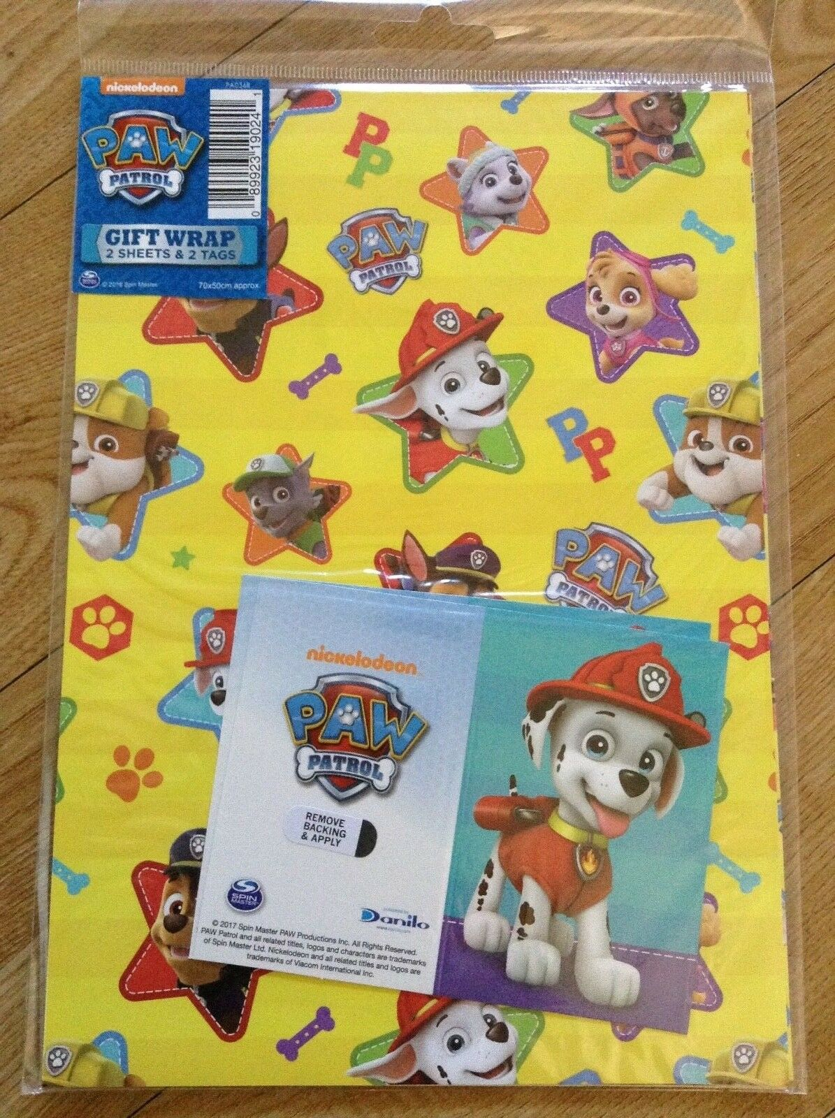 Paw Patrol Birthday Wrapping Paper Inc 2 Sheets Tags 1 Of See More