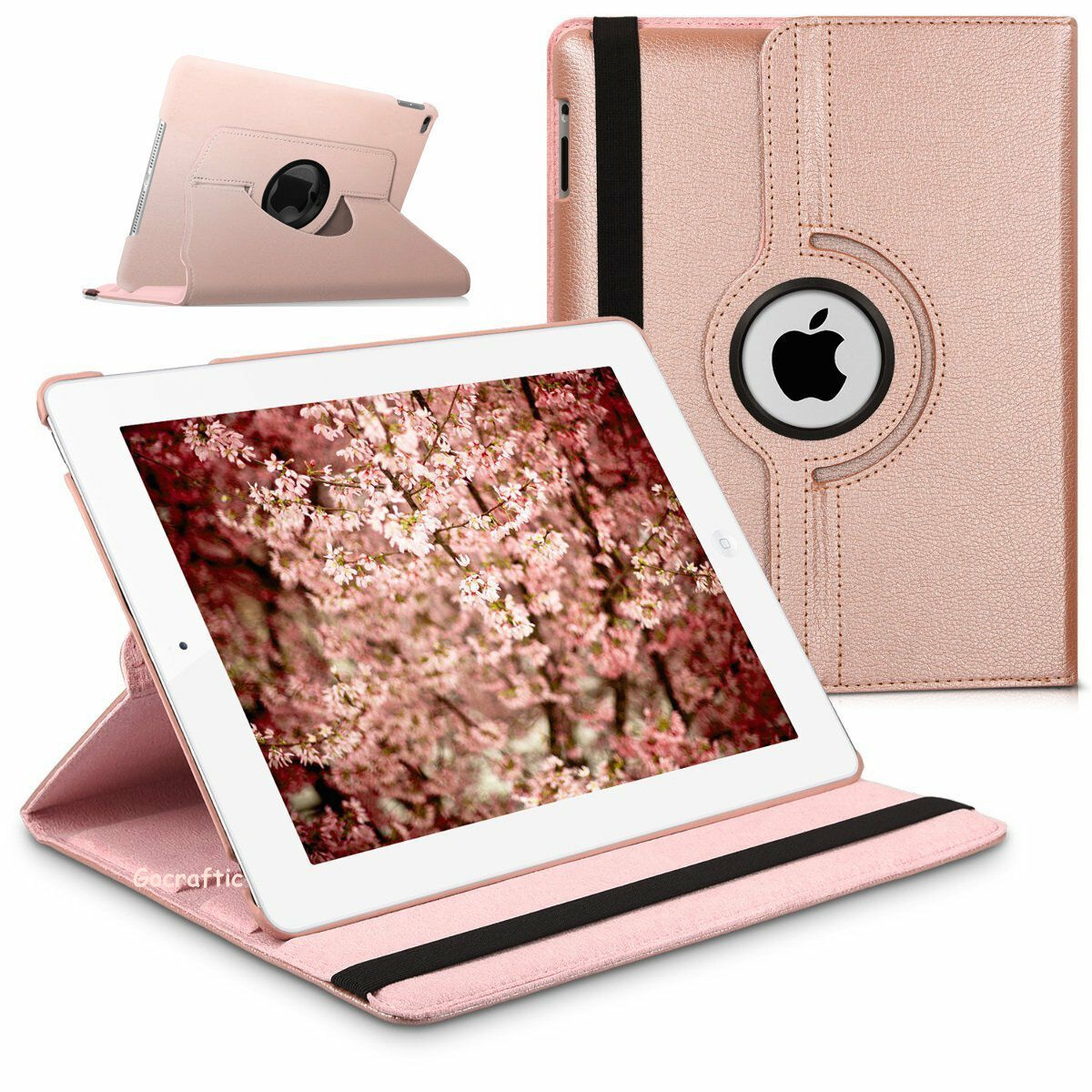 Leather 360 Degree Rotating Smart Stand Case Cover For All Ipad 2 3 4 1 Of 7free Shipping Models