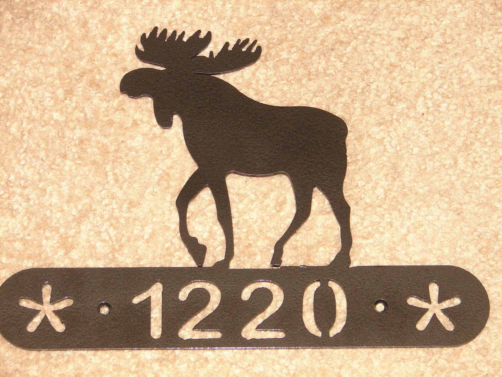 Moose Metal Home Address Plaque Wall Decor House Sign