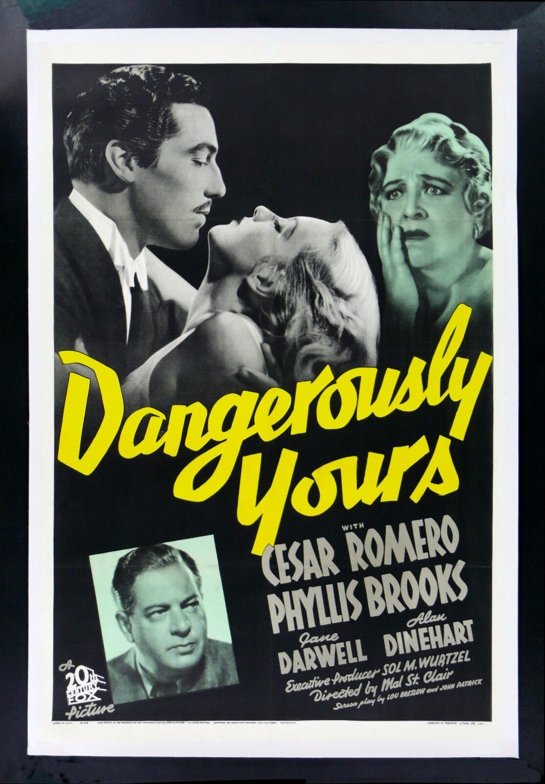 DANGEROUSLY YOURS * CineMasterpieces 1SH 1937 VINTAGE ...