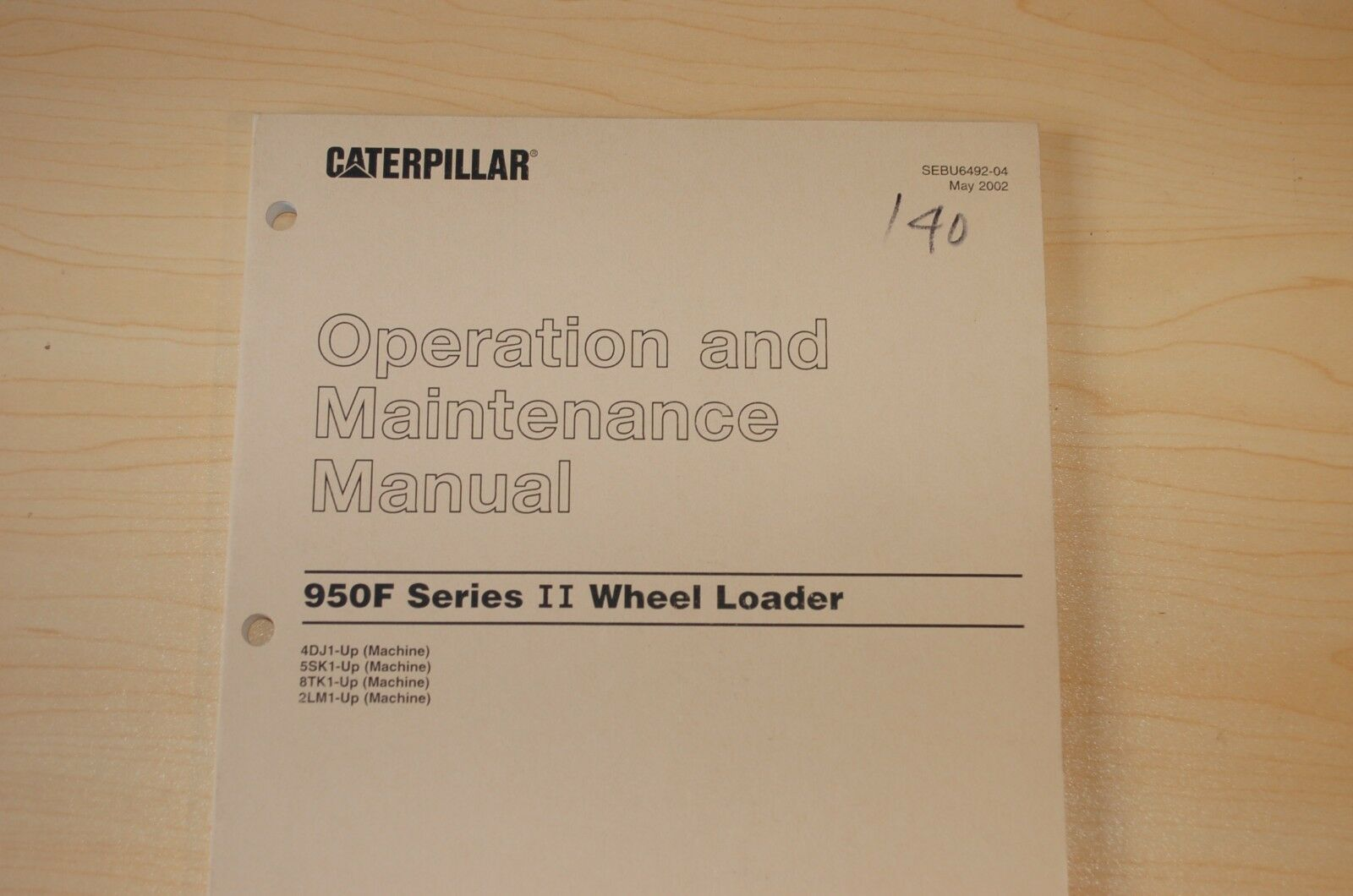 CAT Caterpillar 950F Wheel Loader Operation Operator Maintenance Manual  Book 2 1 of 4Only 2 available ...