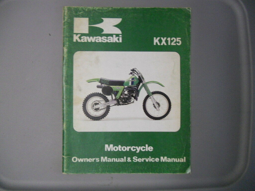 Kawasaki Factory Service Repair Shop Manual 1981 KX125 A7 1 of 1Only 1  available ...