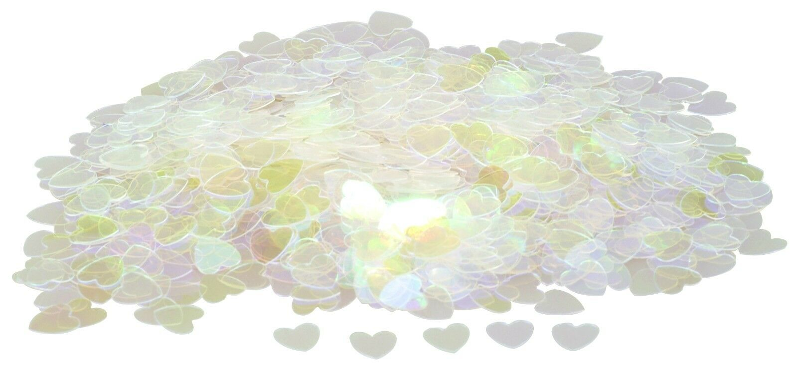 Iridescent Clear Pearl Sparkle Heart Wedding Confetti Table Decoration 1 Of 1free Shipping