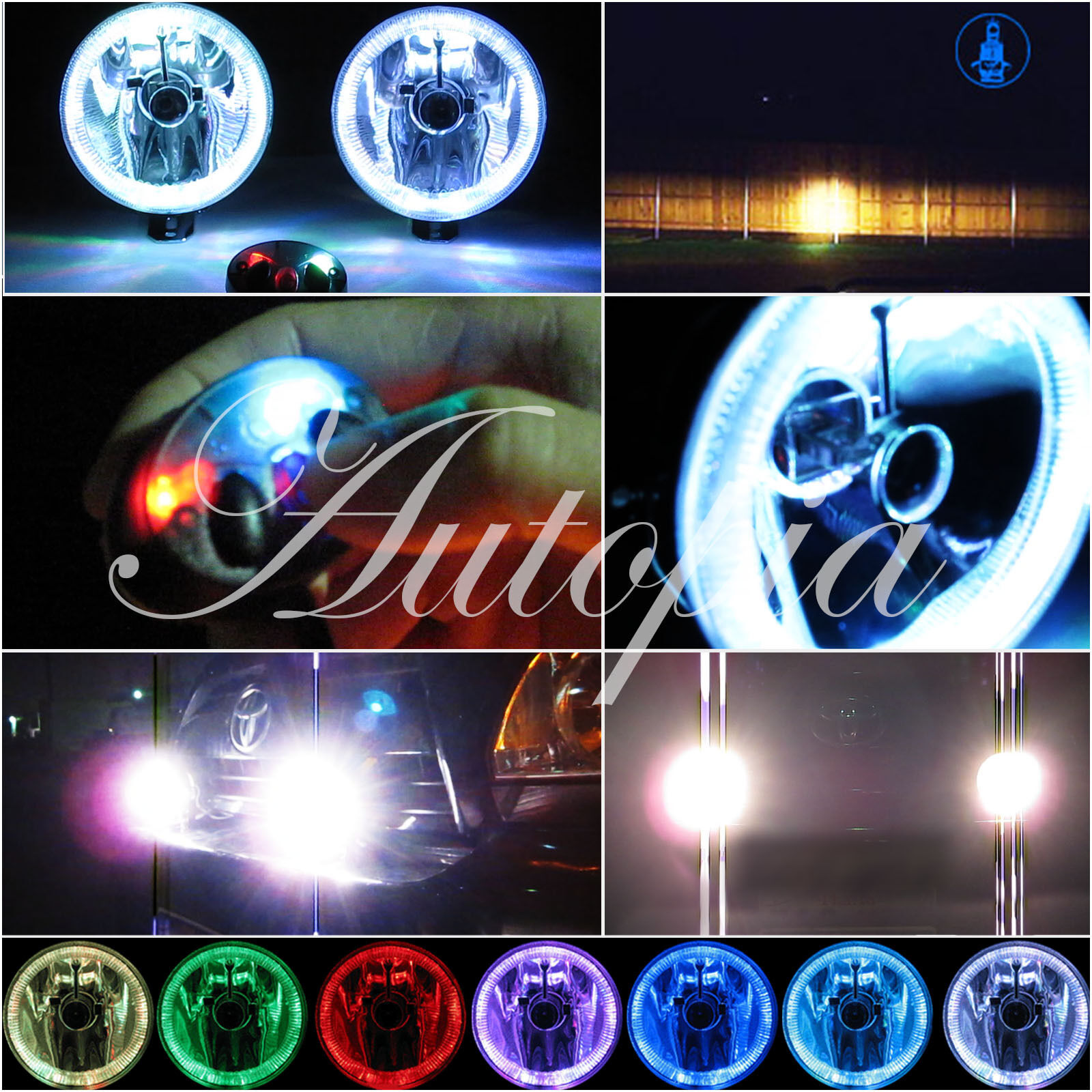6 4x4 Super Build Off Road Fog Lights Lamps Wiring Kit Switch Halo Covers 1 Of 1free Shipping See More