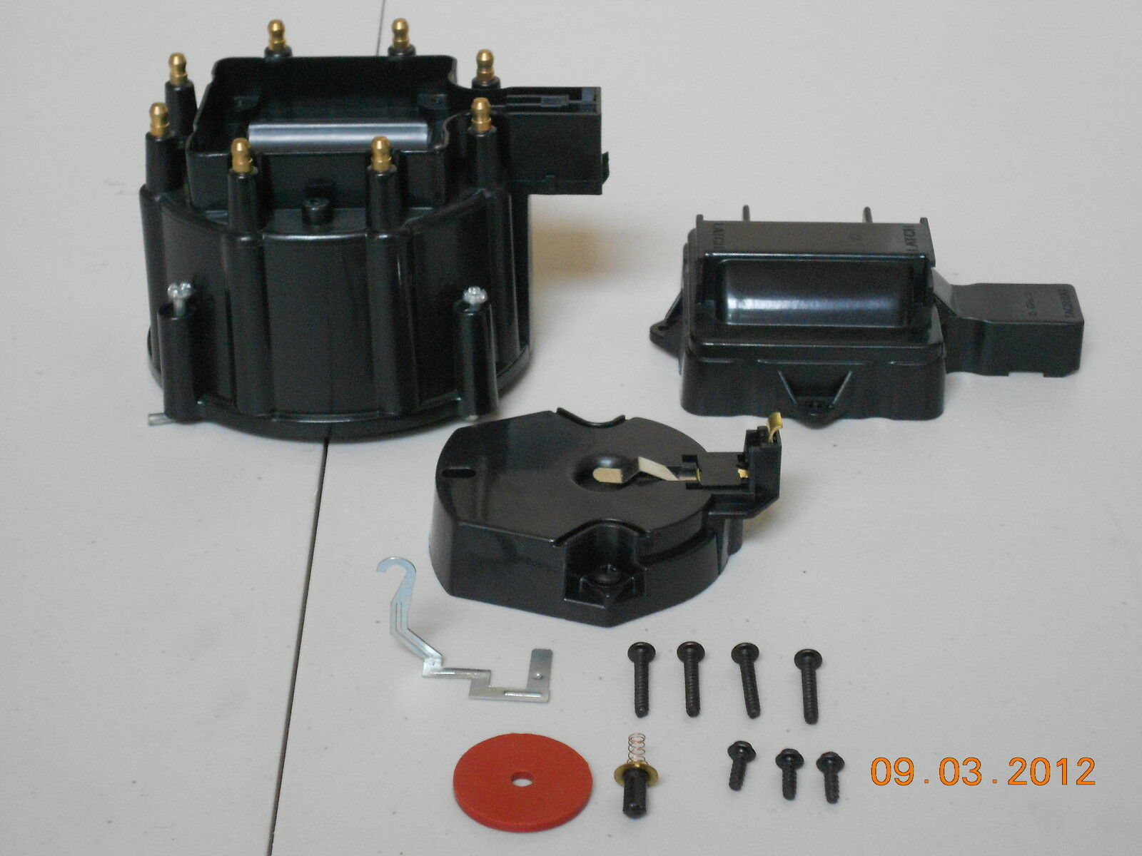 New Hei Distributor Cap Coil Cover Rotor Kit Black Gm Chevy Pontiac 1 Of 2free Shipping See More