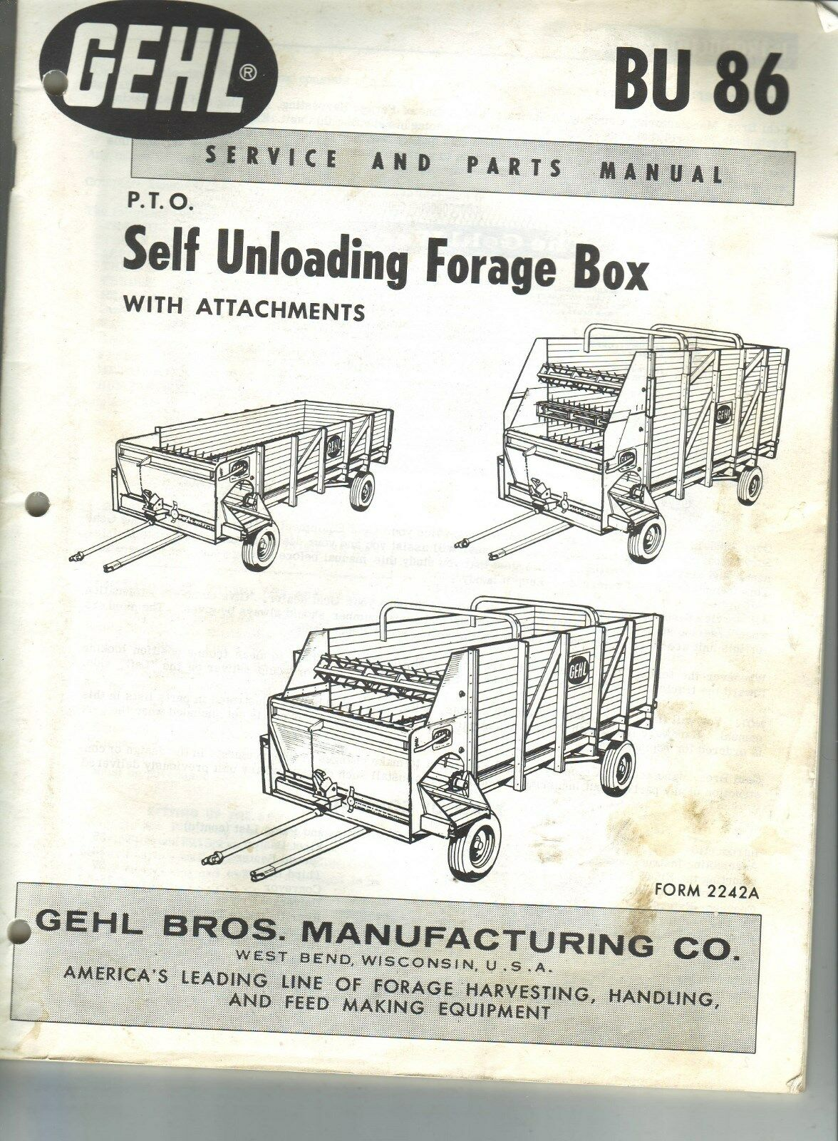 Gehl Self Unloading Forage Box 1 of 1Only 1 available ...