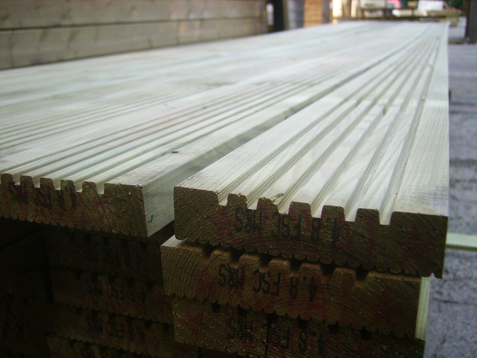 Timber decking boards treated 125 x 28mm 3 6 metre 12ft for 5 metre decking boards