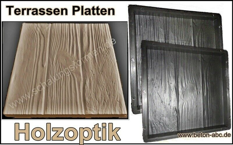 schalungsform gie form f r beton terrassen platten holzoptik 30 x 30 x 3 cm. Black Bedroom Furniture Sets. Home Design Ideas