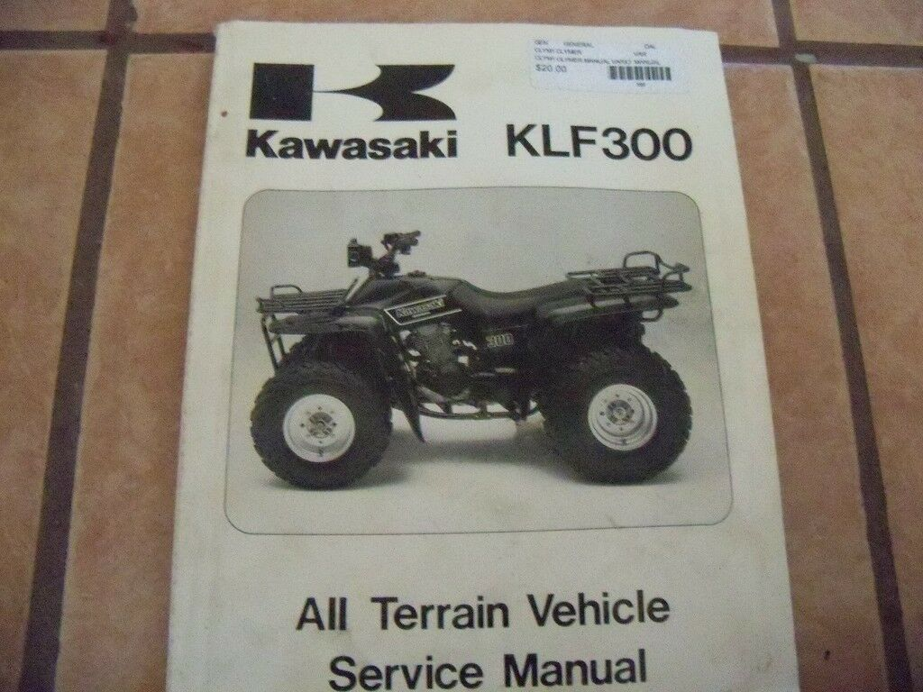Genuine Kawasaki KLF300 All Terrain Vehicle Service Manual 1 of 2Only 1  available ...