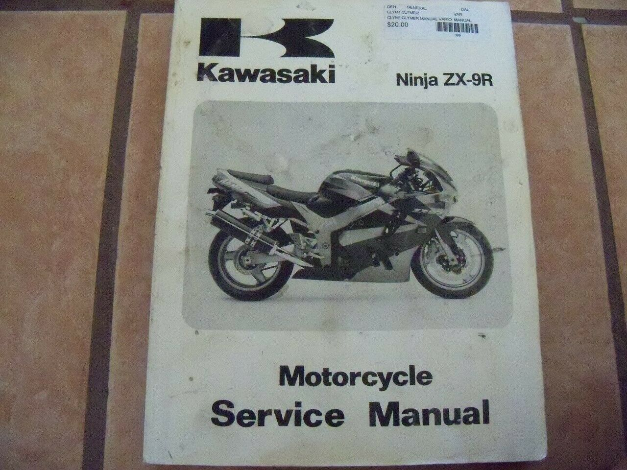 Genuine Kawasaki Ninja ZX-9R Motorcycle Service Manual 1 of 2Only 1  available ...