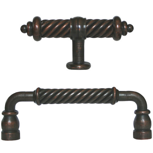 Oil Rubbed Bronze Flute Kitchen Cabinet Drawer Knobs And Pulls 5 And 3