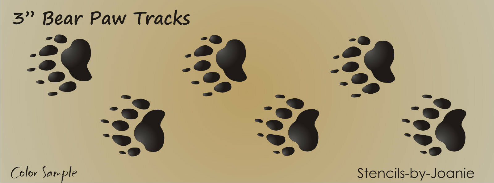 The gallery for deer track stencil for Bear footprints template