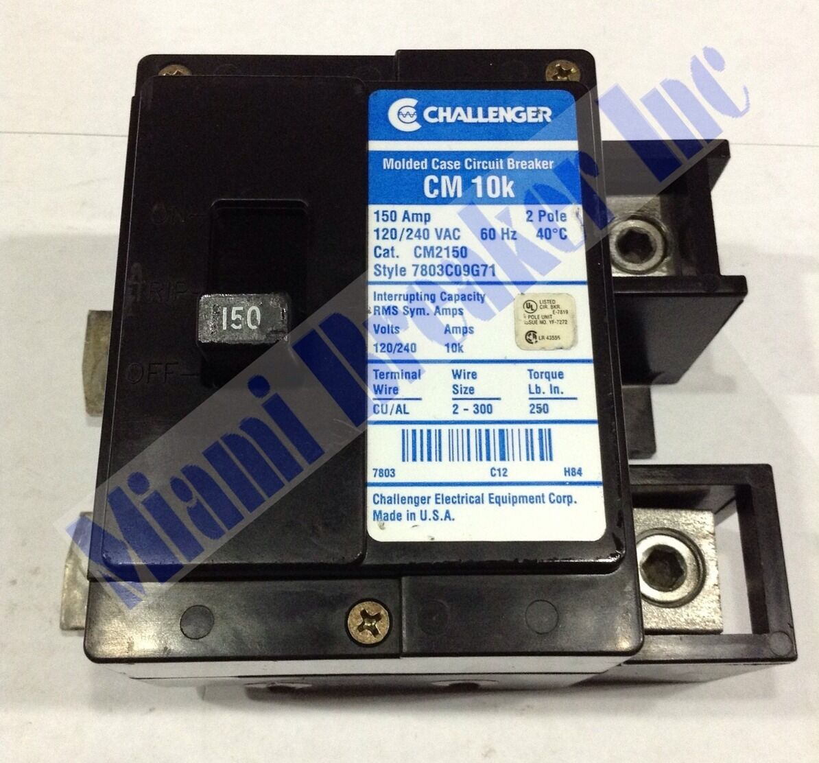 Cm2150 Challenger Type Cm 10k Blue Label Circuit Breaker 2 Pole 150 Home Fuse Box 1 Of 1only Available