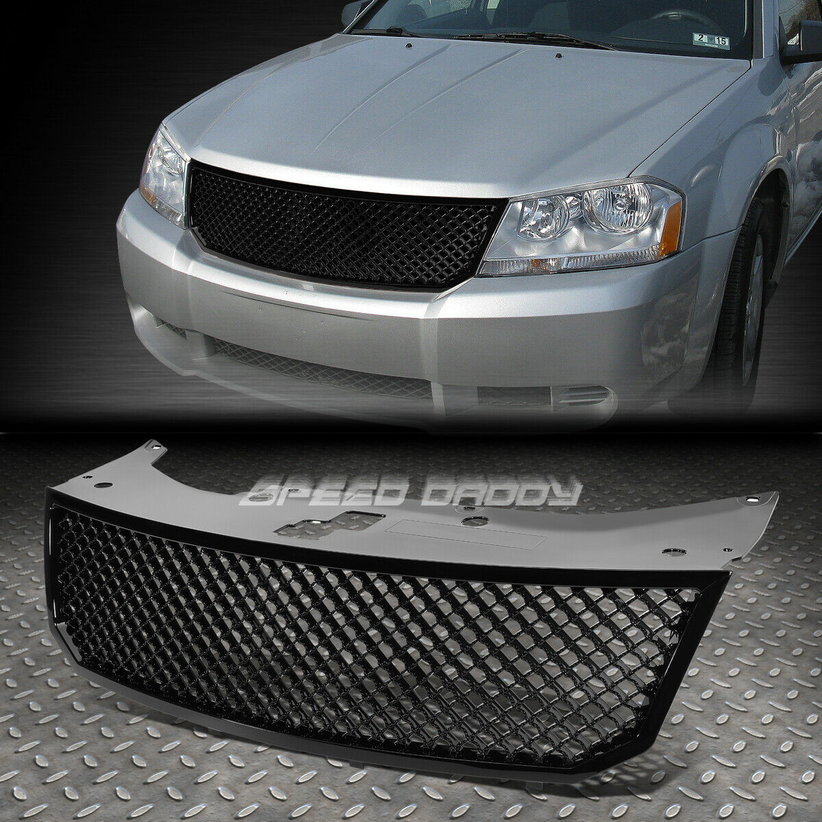 Luxury Sport Mesh Front Hood Bumper Abs Grill Grille Frame 08 10 2012 Dodge Avenger 1 Of 5free Shipping