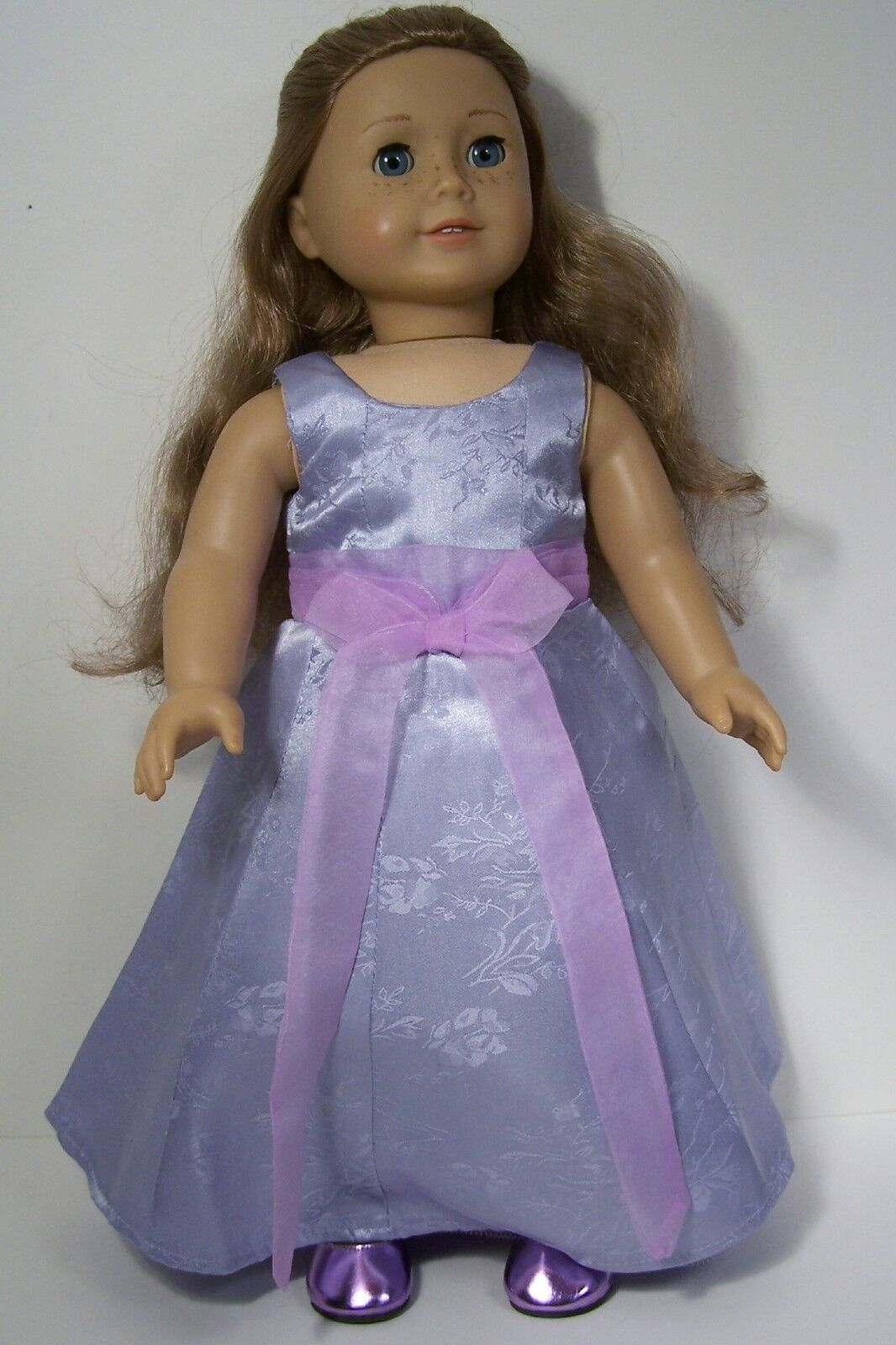 LAVENDER FORMAL PROM Evening Gown Dress Doll Clothes For 18 American ...