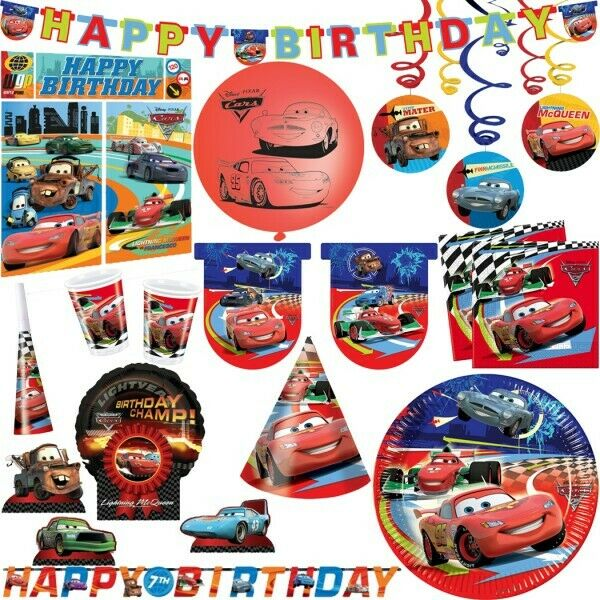 disney pixar cars 2 kindergeburtstag kinderparty party deko set motto geburtstag eur 1 99. Black Bedroom Furniture Sets. Home Design Ideas