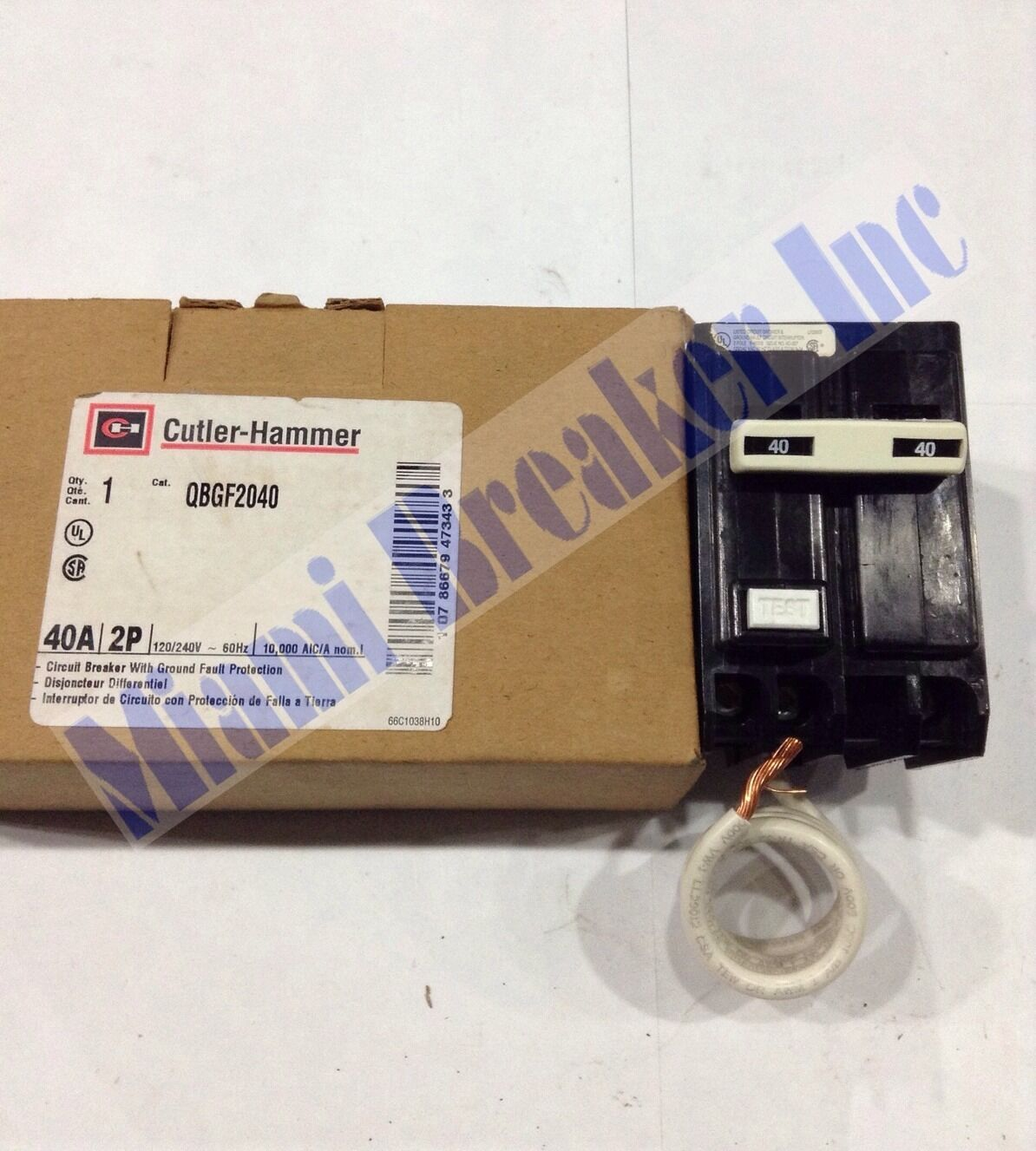 Qbgf2040 Cutler Hammer Circuit Breaker 2 Pole 40 Amp 120 240v New 30 3 4 In Doublepole Type Ch Breakerch230 The Home Box 1 Of 4free Shipping