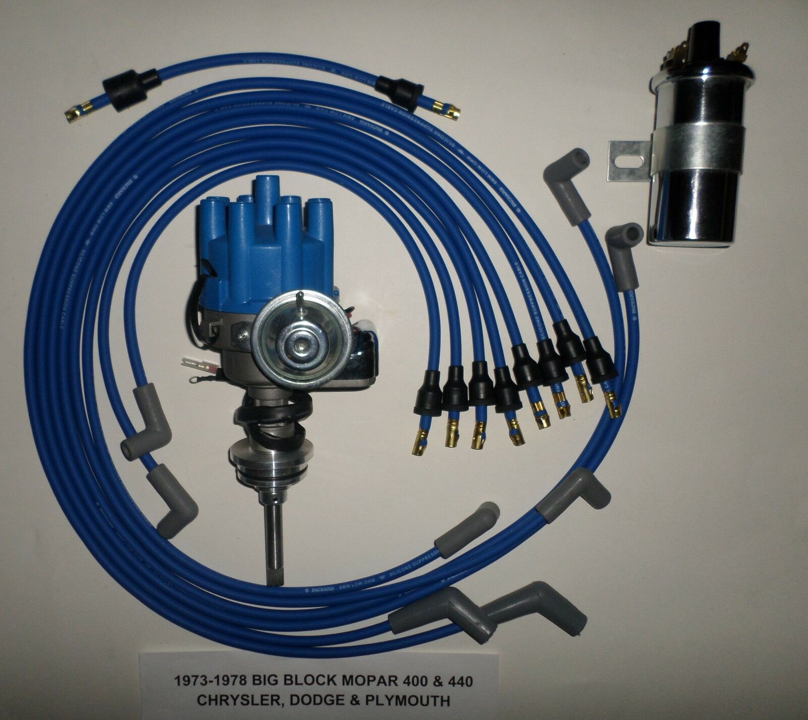 Mopar 440 73 78 Blue Small Female Cap Hei Distributor 45k Coil Wiring In Gm Spark 1 Of 2free Shipping