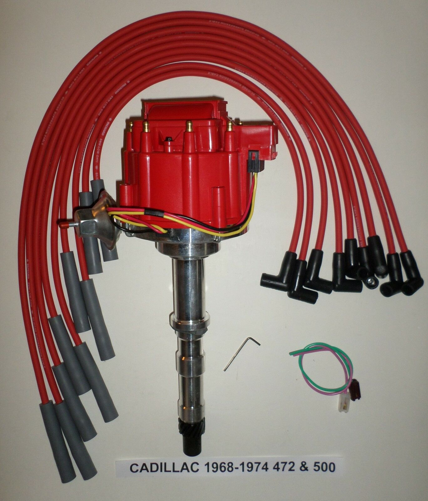 Cadillac 1968 1974 V8 472 500 Hei Red Distributor 8mm Spark Gm Small Cap Wiring 1 Of 2free Shipping