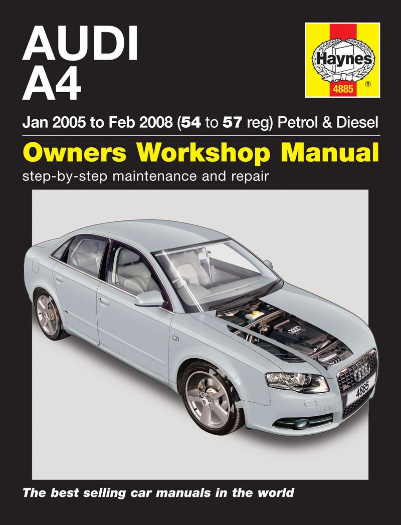 Haynes Manual 4885 Audi A4 B7 Avant 1.8 SE 2.0 Turbo 1.9 & 2.0 TDi 2005 1  of 1 See More