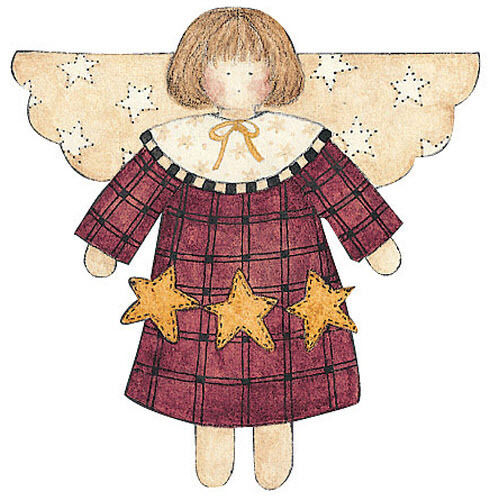 WALLIES STAR ANGEL wall stickers 25 prepasted decals country art ...