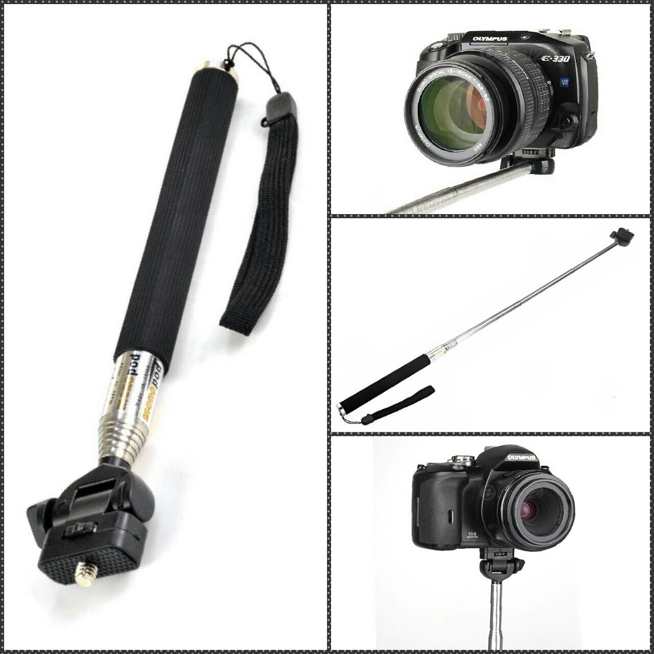 extendable monopod stand selfie stick for digital camera kodak nikon sony canon. Black Bedroom Furniture Sets. Home Design Ideas
